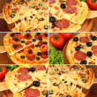 Pizza set - Lizenzfreies Foto