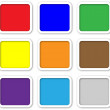 Color web buttons with white rim — Stockfoto