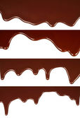 Melted chocolate dripping set — Stock Photo