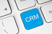 Blue CRM button — Stock Photo