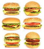 Velké hamburgery — Stock fotografie