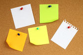 Colour note papers — Stock Photo