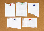 White notes with pin — Stock Photo