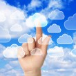 Stockfoto: Cloud computing concept