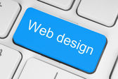 Blue web design button — Stock Photo
