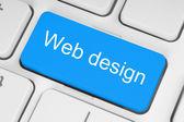 Blue web design button — Stock Photo