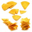 Stock Photo: Mexican nachos set