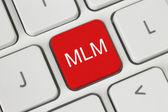 Red MLM (Multi Level Marketing) button — Stock Photo