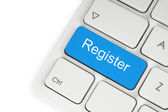 Blue register button — Foto de Stock