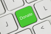 Green donate button — Stock Photo