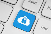 Cloud computing security concept — Stockfoto