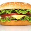 Big hamburger — Stock Photo