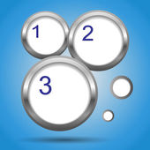 Round labels with numbers — Stock Photo