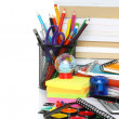 Foto Stock: School stationery