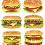 Big hamburgers — Stock Photo #31220989