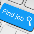 Blue find job button — Stock Photo