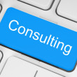 Blue consulting button — Stock Photo