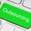 Green outsourcing button — Stock fotografie #31221079