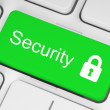 Foto Stock: Green security button
