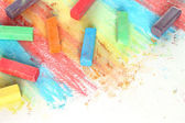 Color pieces of chalk — Stock Photo