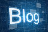 Blog on digital background — Stock Photo