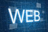 Web on digital background — Stock Photo