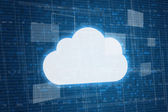 Cloud on digital background — Stock Photo