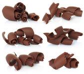 Chocolate shavings set — Stock Photo