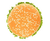 Top of big hamburger — Stock Photo
