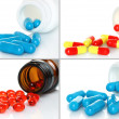 Pills pouring from bottle set — Stock Photo #43048559