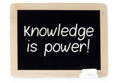 Knowledge is power on chalk board — Stock Photo