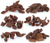Chocolate shavings set — Stock Photo