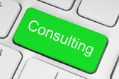 Green consulting button — Stock Photo