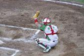 Baseball catcher — Stock Photo