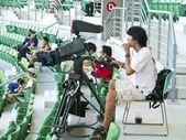 Baseball camera man — Stock Photo