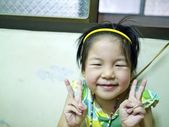 Smiling little cute girl — Foto Stock