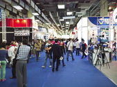 Camera gears exhibition — Stock Photo