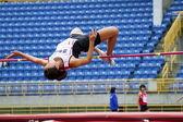 Springen athelete — Stockfoto