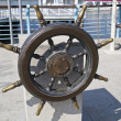 Stock Photo: Ships helm wheel