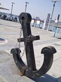 Anchor with chain — Stock Photo