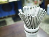 Stainless steel chopsticks — Stock Photo