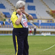 Stock Photo: Elderly track and field game