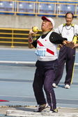 Elderly track and field game — Стоковое фото