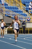 Elderly track and field game — Stock Photo