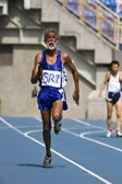 Elderly track and field game — Foto Stock