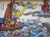 Taiwanese traditional wall sculpture — Stockfoto