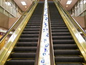 Automatic escalators — Stock Photo