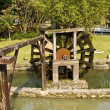Wooden waterwheel — Stock Photo