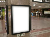 Blank billborad — Stock Photo
