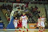 High school secundaria baloncesto juego, hbl — Foto de Stock